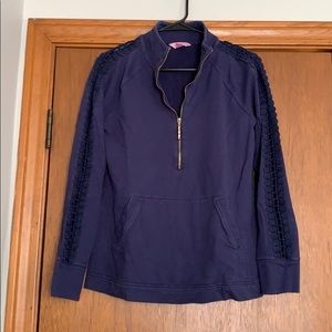 Lilly Pulitzer navy sweatshirt, size small